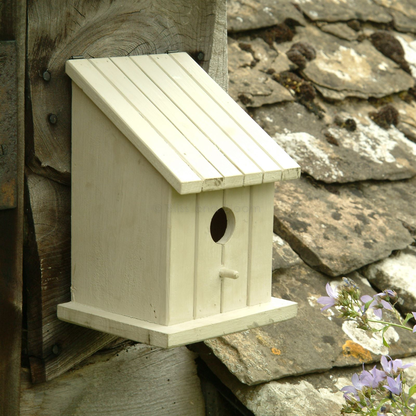 Solid wood bird house bliss and bloom ltd